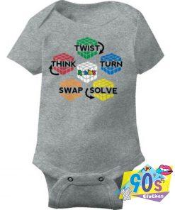 Rubiks Cube Brain Teaser Baby Onesie