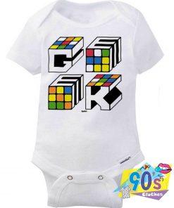 Rubiks Cube Geek Baby Onesie