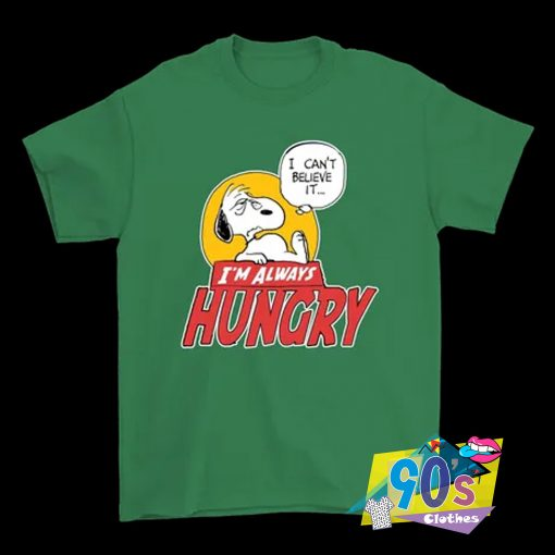 Snoopy Fell So Hungry T Shirt