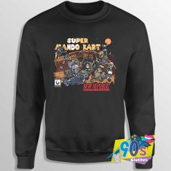 Super MAndo Kart The Mandalorian Sweatshirt