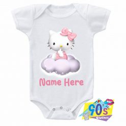 Sweet Hello Kitty On Cloud Baby Onesie