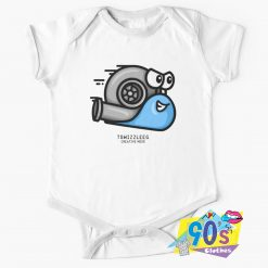 Turbo Snail Blue Baby Onesie