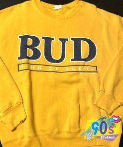VIntage Budweiser King Of Beer Yellow Sweatshirt