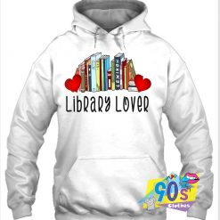 Valentine's Day Library Month Reading Book Hoodie