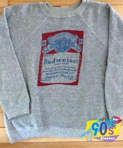 Vintage Budweiser Large Beer Sweatshirt