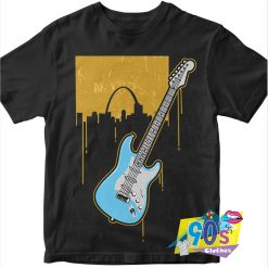 Vintage Guitar On The Music T Shirt