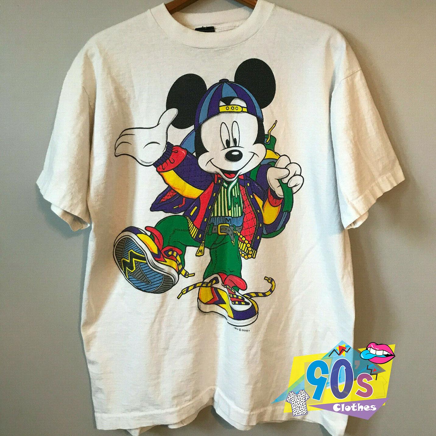 Vintage Mickey Mouse Hip Hop T Shirt On Sale - 90sclothes.com