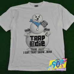 Vintage Young Jeezy Trap Or Die Snowman T Shirt