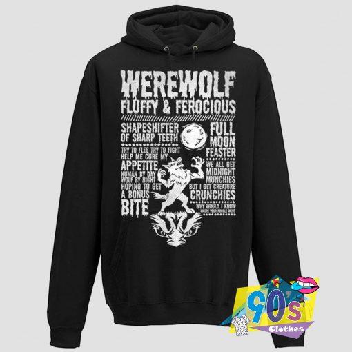 Warewolf Fluffy Ferocious Hoodie