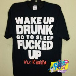 Wiz Khalifa Wake Up Drunk Vintage T Shirt