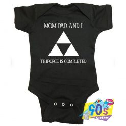 Zelda Triforce Mom Dad And I Baby Onesies