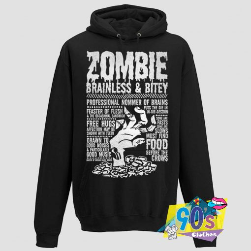 Zombie Monster Brainless Hoodie