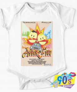 Asses of fire Terrance and Phillip Baby Onesie