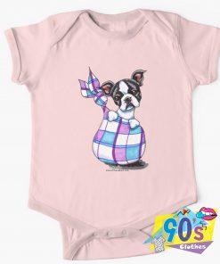 Boston Terrier Sack Puppy Baby Onesie