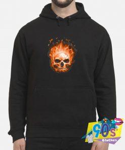 Fire Sugar Skull Ribbon Hoodie