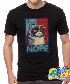 Funny Grumpy Cat Nope T Shirt