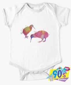 Funny Kiwi Birds Baby Onesie