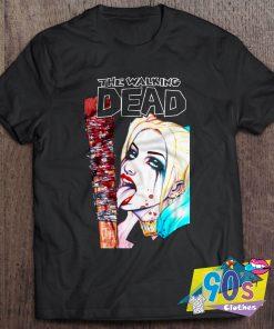 Funny The Walking Dead Harley Quinn T Shirt