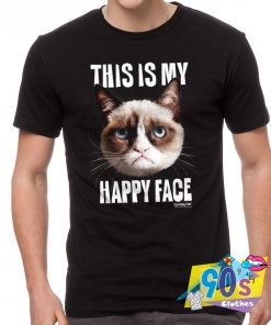 Grumpy Cat Happy Face T Shirt