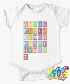 List of Alphabet Baby Onesie
