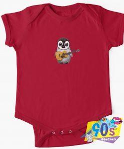 Musical Penguin Playing Guitar Baby Onesie