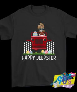Rabbit On Jeep Easter Holiday T Shirt