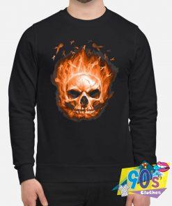 Scary Sugar Skull Ribbon Sweatshirt