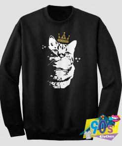 The Cat King With Crow Sweatshirt