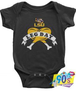 Cheap LSU Tiger Leg Day Baby Onesie