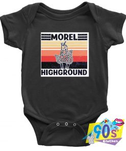 Mushroom Morel Highground Baby Onesie