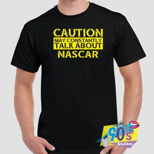 Nascar Warning Graphic T Shirt