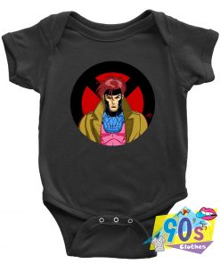 Retro Wolverine Deadpool Cartoon Baby Onesie