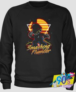 Smashing Plumber Super Mario Gaming Sweatshirt