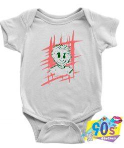 Spiky Hair Cartoon Baby Onesie