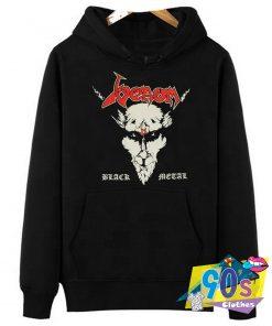 Venom Red Letters Black Metal Hoodie