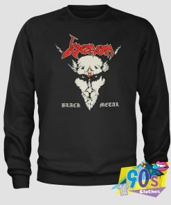 Vintage Venom Red Letters Black Metal Sweatshirt