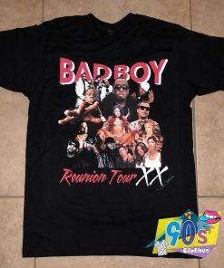 Bad Boy Rap Tour 90s T Shirt Style
