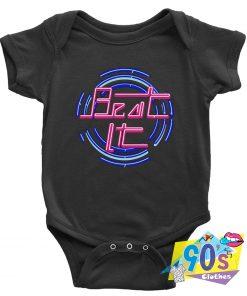 Beat It Michael Jackson Circle Graphic Baby Onesie