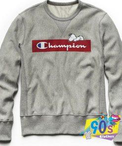 Cute Champion Peanuts Sweatshirt