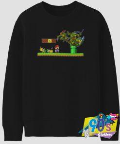 Donatello Michelangelo Leonardo Super Mario Sweatshirt