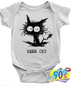 Fright Hiss Off Funny Cat Baby Onesie
