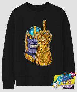 Fuck Thanos Avengers Vintage 90s Sweatshirt