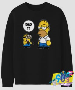 Funny Kevin Minion and Homer Simpson Sweatshirt