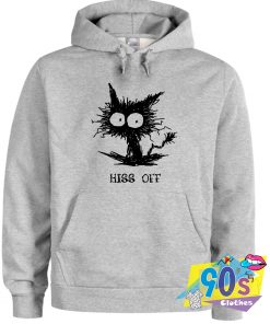 Hiss Off Funny Cat Doodle Hoodie