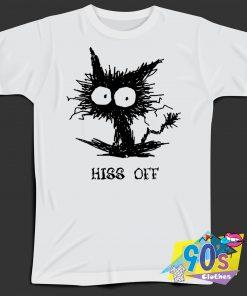 Hiss Off Funny Cat T Shirt