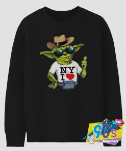 I Love New York Yoda Star Wars Sweatshirt