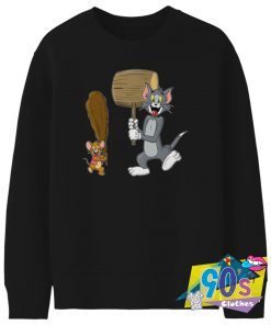 Itchy and Scratchy and Tom and Jerry Sweatshirt