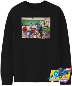 Justice League Superheroes In The Classroom Sweatshirt