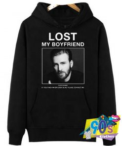 Lost My Boyfriend Chris Evans Cool Poster Hoodie