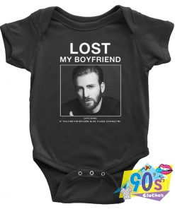 Lost My Boyfriend Chris Evans Look Alike Baby Onesie